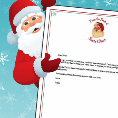 Letter From Santa – Free Printable Template