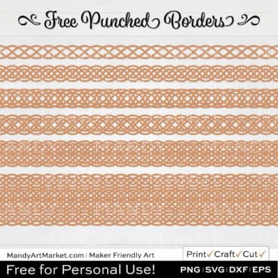 Clay Orange Punched Border Braids Graphics on White Background