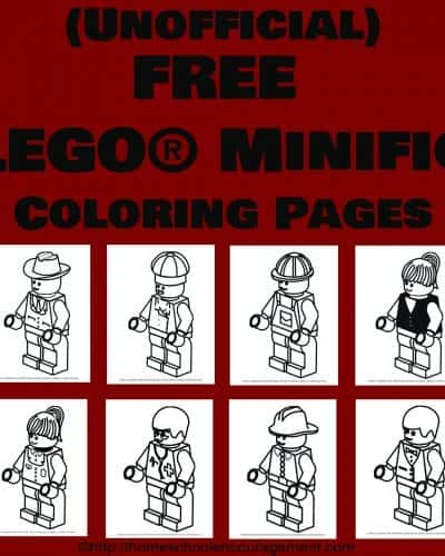 LEGO Minifig Coloring Pages are free to download at #homeschool encouragement