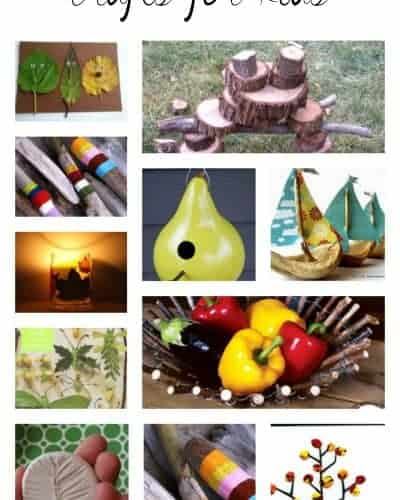 40 Fun Ideas - Nature Crafts for Kids - Beautiful Art