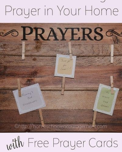 Encouraging Children to Pray, Family Prayer,
