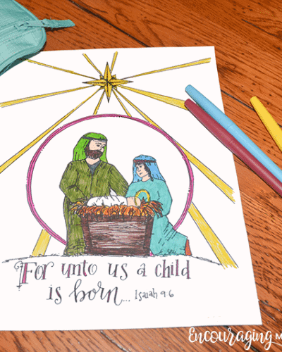 Nativity Coloring Page Exclusive-1-4