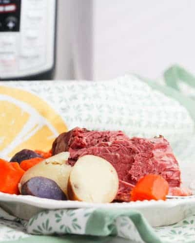 Image: how to cook corned beef in an Instant Pot