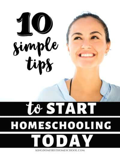 Want to make sure you are starting homeschool right? I get it! It's a big step. How about 10 steps to start homeschooling today? Includes a list of school supplies to stock up on for homeschooling.