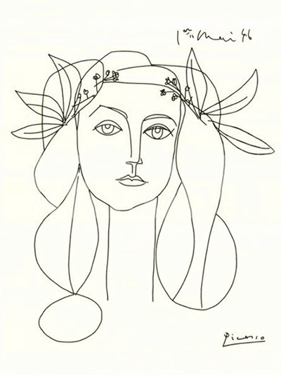 Picasso's line drawing, War and Peace.