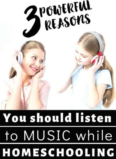 3 Powerful reasons you should listen to music while you homeschool...