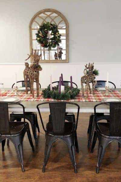Christmas tablescape love