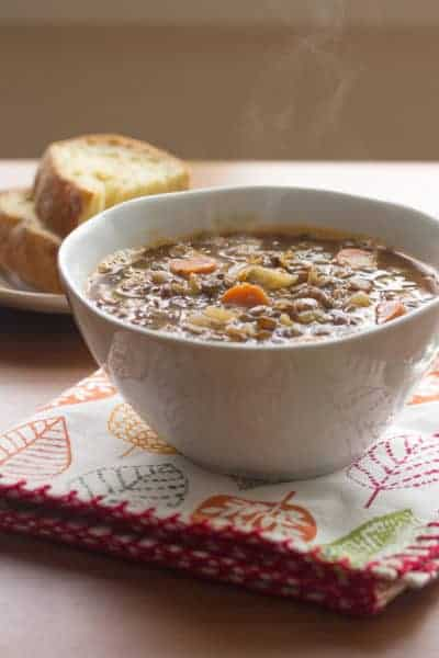 Lentil-Bacon Soup