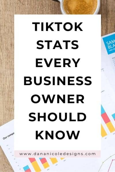 Image with text overlay: TikTok stats every business owner should know