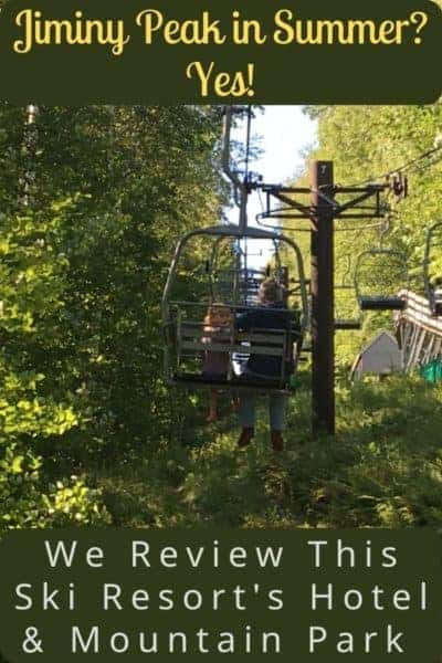 In spring, summer and fall jiminy peak mountain resort in massachusetts has an adventure park full of family activities including an aerial rope course, mountain coaster and more. Stay on the property at the country inn all-suites hotel. #jiminypeak #berkshires #massachusetts #weekend #getaway #kids #adventurepark #skiresortsinsummer #ideas