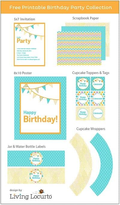 Free Party Printables - Birthday Invitations