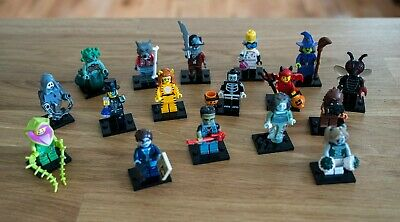 LEGO Minifigure Monsters Set of 17 Zombie, Werewolf, Medusa, Halloween Series 14