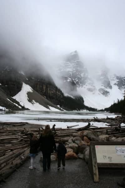 Moraine Lake, moraine lake alberta, moraine lake banff, moraine lake banff, banff with toddlers, banff with a toddler