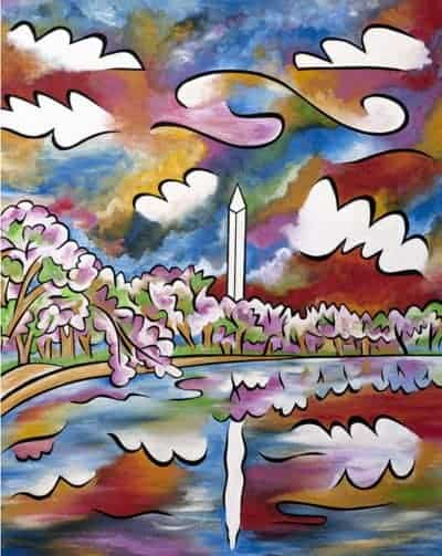 Tidal Basin Bloom painting