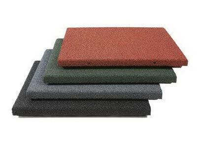Производство резиновой плитки.