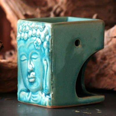 Aromalampe Buddha turkis