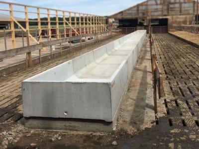 H Feed Bunk Zunker Farms Precast Concrete