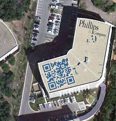 QR code op het dak