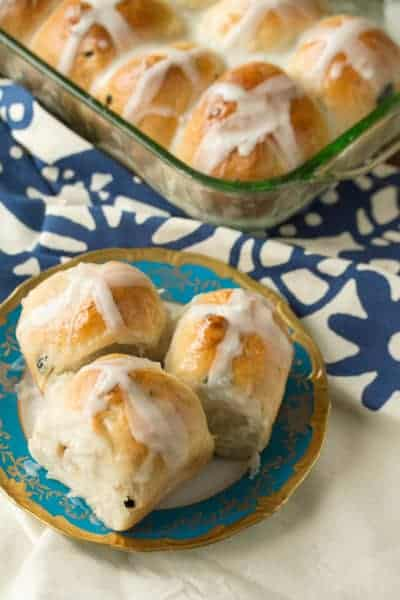 Blueberry, Almond and Lemon Hot Cross Buns