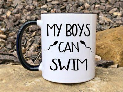 my boys can swim pregnancy announcement