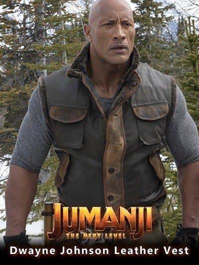 Jumanji The Next Level Dwayne Johnson Leather Vest