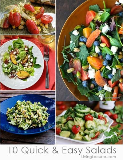 10 Easy Salad Recipes Perfect for Pizza Night! LivingLocurto.com