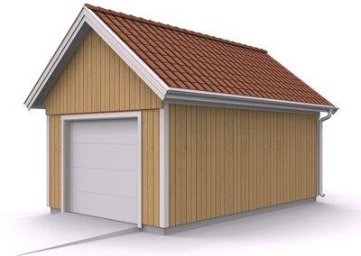 Våra garage - Enkelgarage med loft