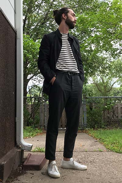 cropped pants in smart casual