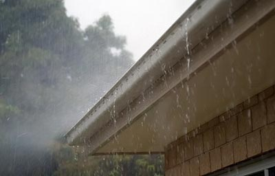 Clogged gutters damage to your home