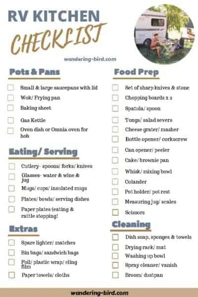 image regarding Printable Rv Setup Checklist named Significant Packing a camper lists- 7 printable RV checklists