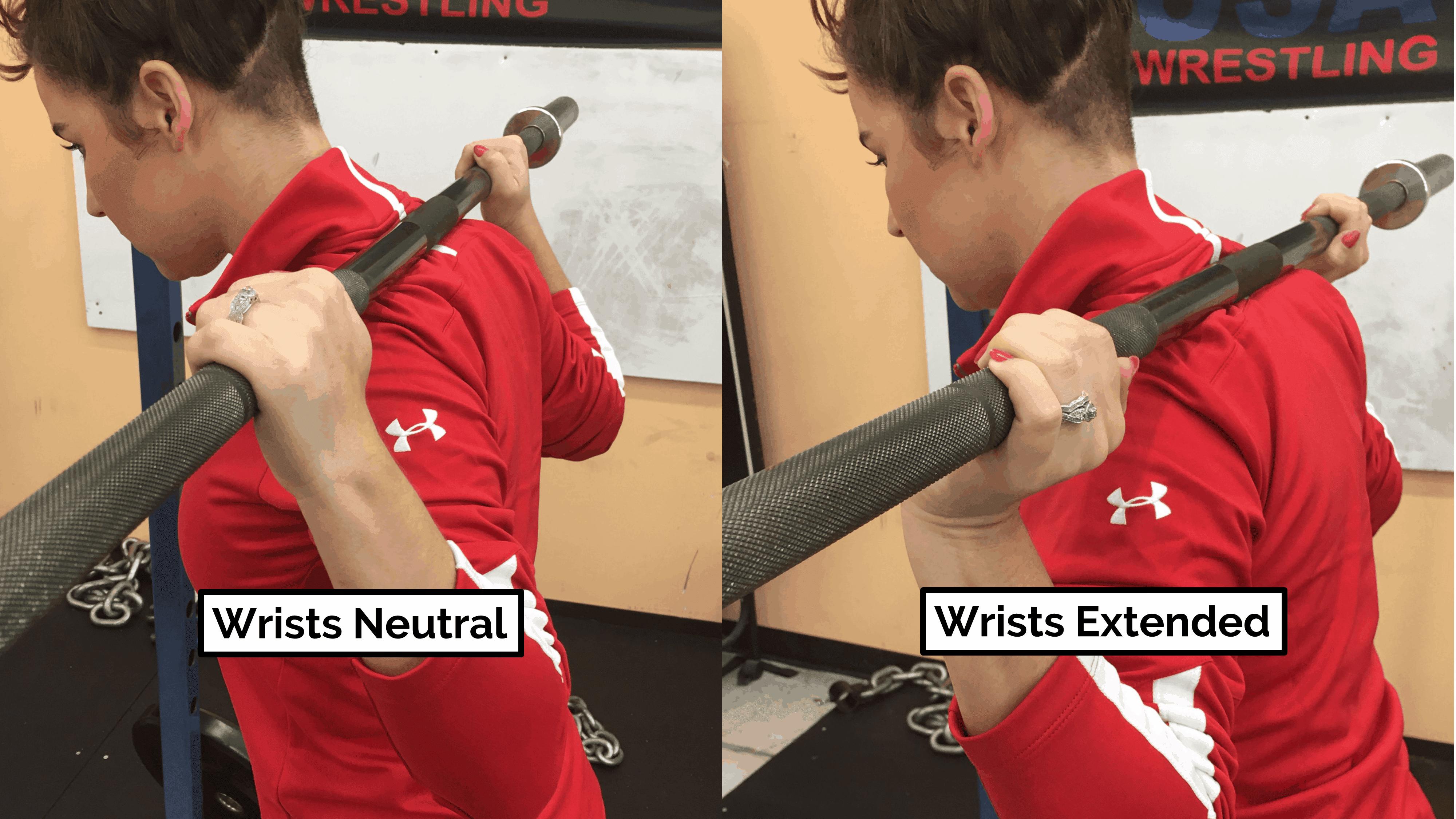 wrist position during squat elbow pain