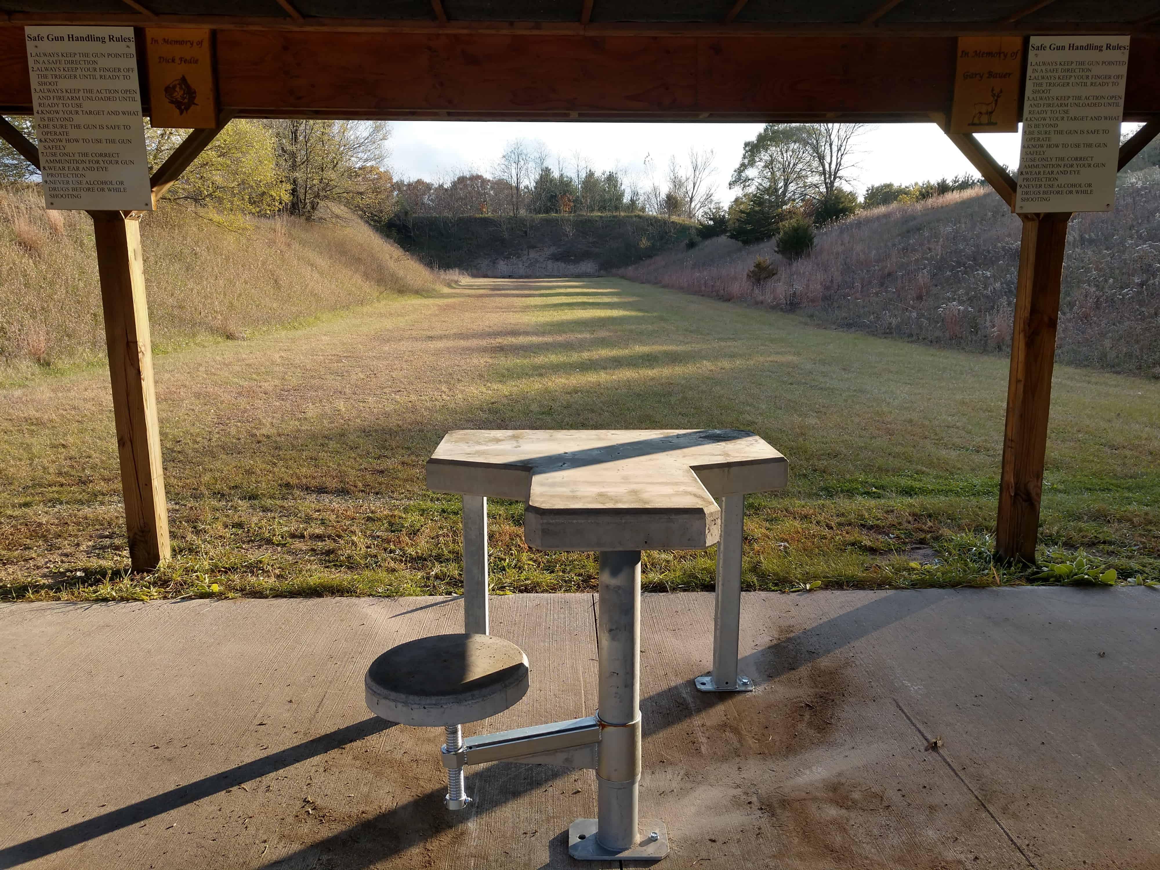 Precast Concrete Shooting Range Bench by Wieser Concrete