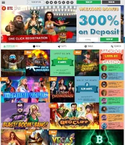 BTCSPIN Casino free bonus