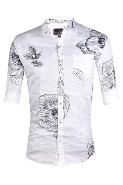 Dson Men's printed Cotton casual Shirt -M