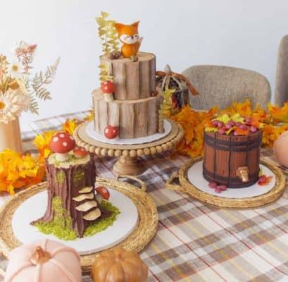 3 Wood Look Cakes