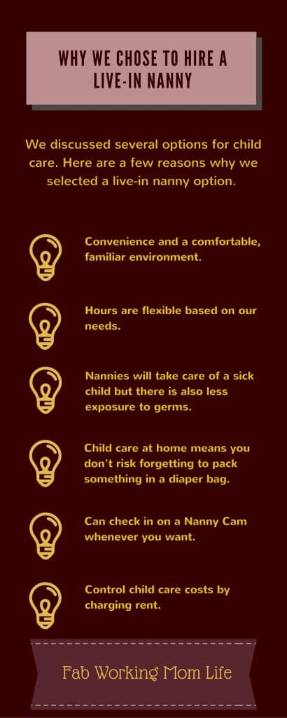 Why we chose a live-in nanny