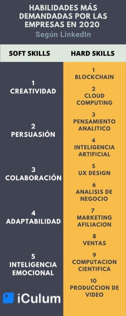 Habilidades en el Curriculum infografía iCulum