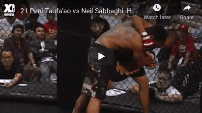 21 Peni Taufa'ao vs Neil Sabbaghi: Hawaii MMA
