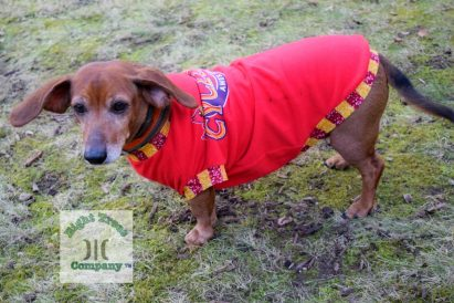 The Tailoress PDF Sewing Patterns - New Jasra Tee for Dachshunds by Eight Trees Company