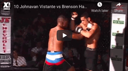 10 Johnavan Vistante vs Brenson Hansen : Hawaii MMA