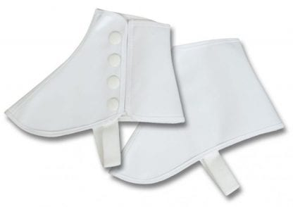 Spats Mens White Canvas Marching Band Spats