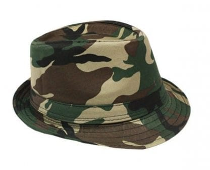 New Camouflage Army Fedora Hat