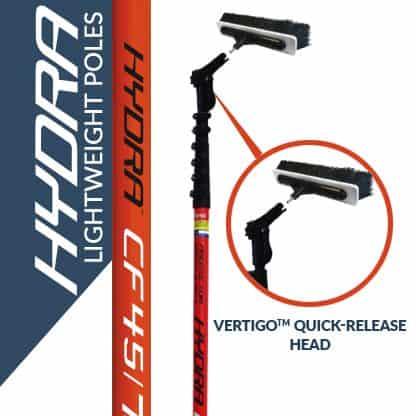Hydra lightweight poles with the Vertigo quick-release head