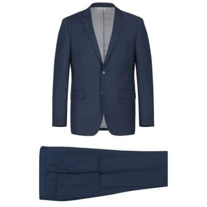 Modern Fit Suit Notch Lapel in Midnight Blue or Burgundy Wine