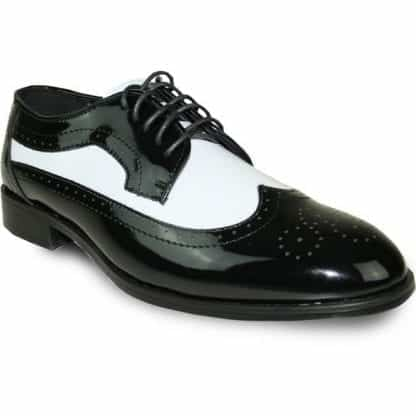 Black And White Zoot Suit Shoes
