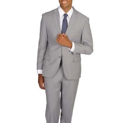 light gray Mens Slim Suit