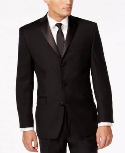 Limited Supply- Closeout Black 3 Button Notch Lapel WOOL Coat Only -Sale – Clearance