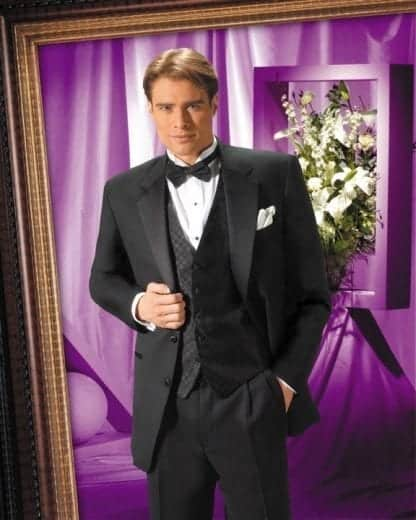Extra Short TWO BUTTON Notch Lapel All WOOL Tuxedo