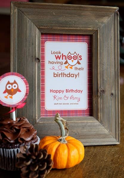 Owl Birthday Party ideas and printables. Unique party designs and desserts with a plaid outdoor camping theme.