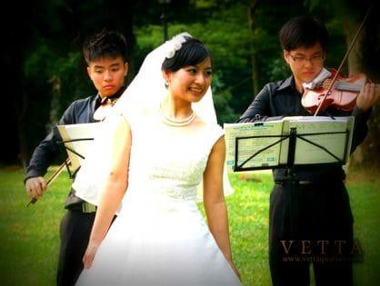 Violin Duet for Wedding at Botanical Gardens